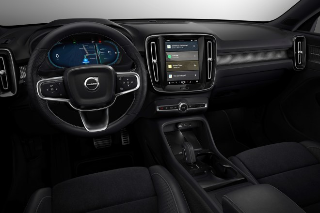 Fully electric Volvo XC40 introduces brand new infotainment system